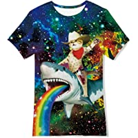 Jubestar Camisetas Niños 3D Impreso Gráfica Boy's T-Shirt, Camisetas Niñas Manga Corta para Ropa de Niños de 6 a 14 Nños