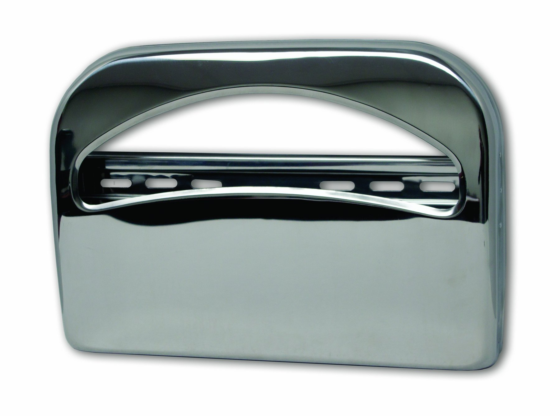 Palmer Fixture TS0142-11 1/2 Fold Toilet Seat Cover Dispenser, Brushed Chrome