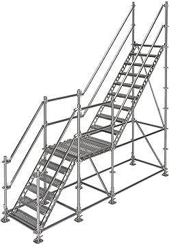 Scafom-rux - Escalera exterior (3 m, acero galvanizado en caliente): Amazon.es: Bricolaje y herramientas