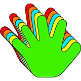 "Hand Assort. Color Cut-Outs: 3"", 31/pkg"