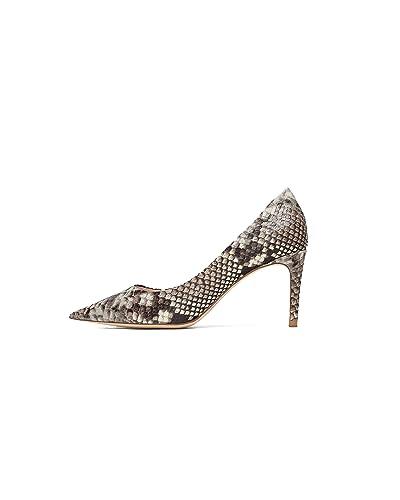 2a03af7fd1d Zara Women s Snakeskin Print Leather high-Heel Court Shoes 6917 301 (2 UK