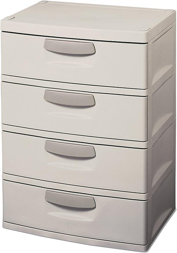 Sterilite 4 Drawer Unit Flat Gray Large Capacity Heavy Duty Durable Ergonomic