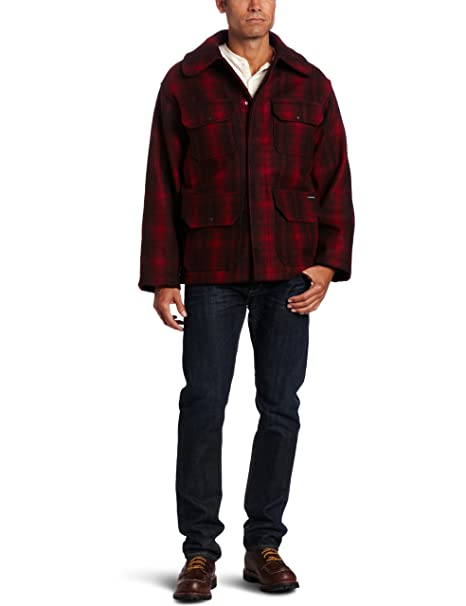 Men's Vintage Style Coats and Jackets Woolrich Mens Classic Hunt Coat $186.75 AT vintagedancer.com