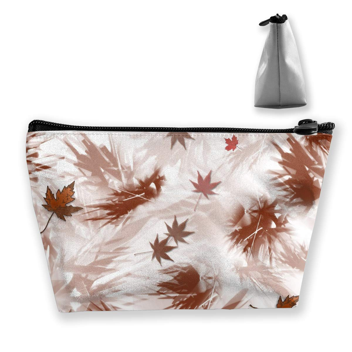 Trapezoid Toiletry Pouch Portable Travel Bag Autumn Leaves Pen Organizer
