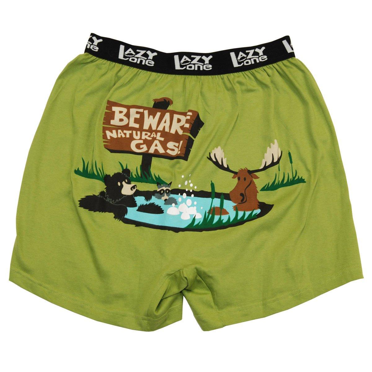 Beware of Natural Gas Big Boys Comical Boxer Shorts
