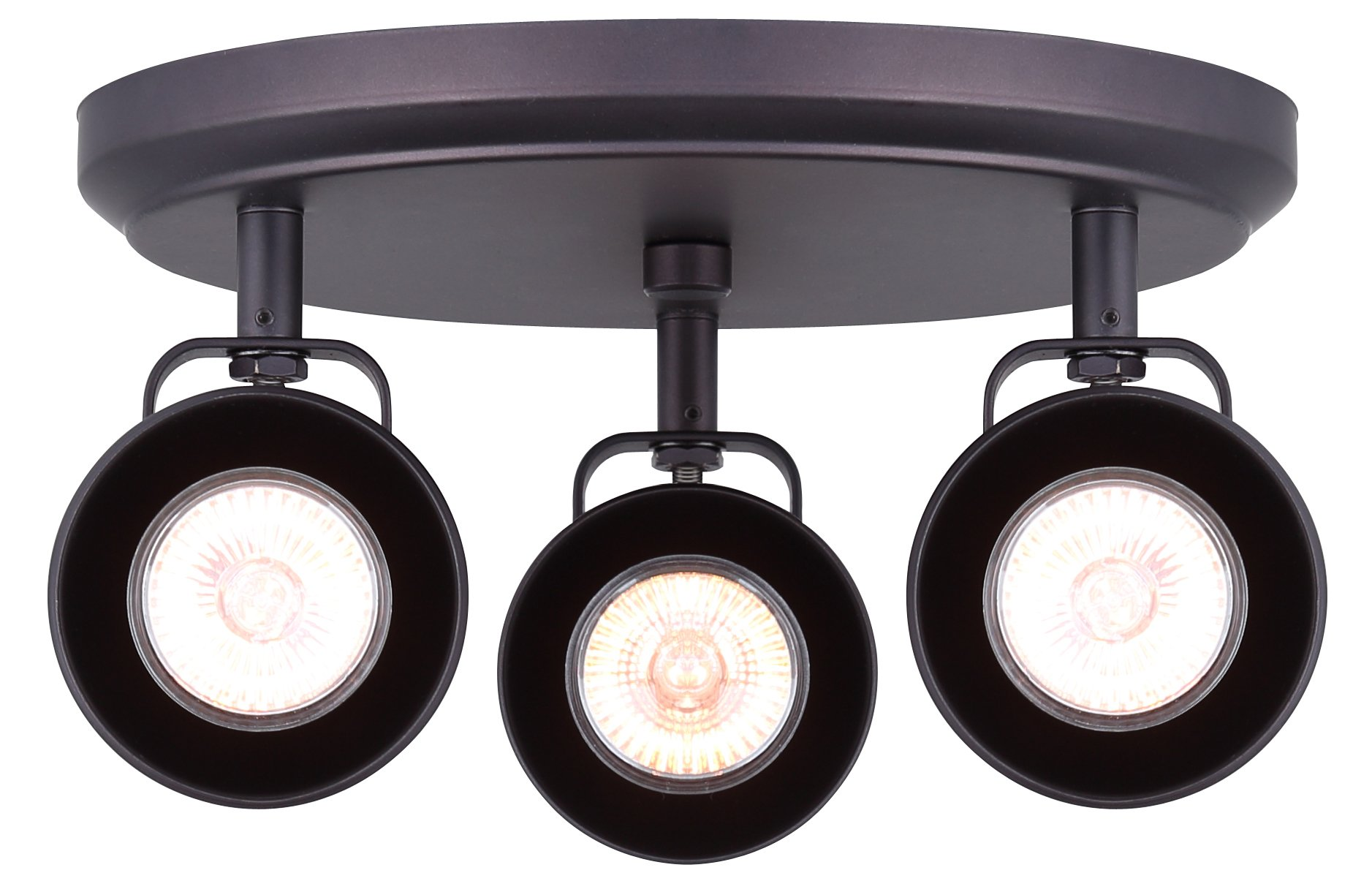 CANARM ICW622A03ORB10 Ltd Polo 3 Light Ceiling/Wall Adjustable Heads, Oil Rubbed Bronze