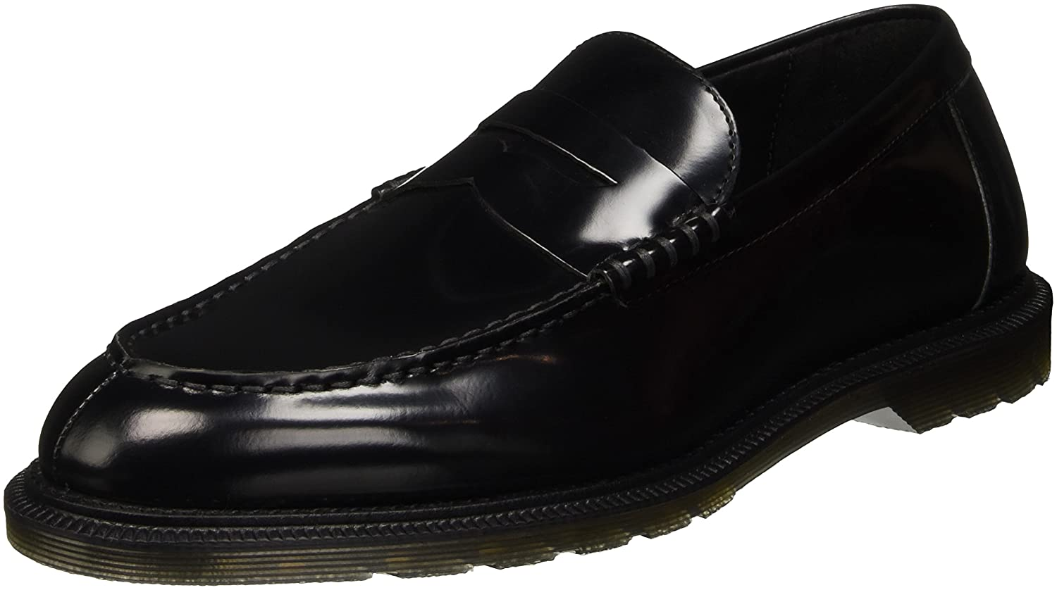 Dr. Martens Penton Black Polished Smooth, Mocasines para Hombre