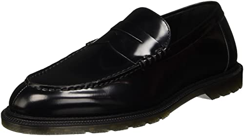 Dr. Martens Penton Black Polished Smooth, Mocasines para Hombre, Negro, 39 EU
