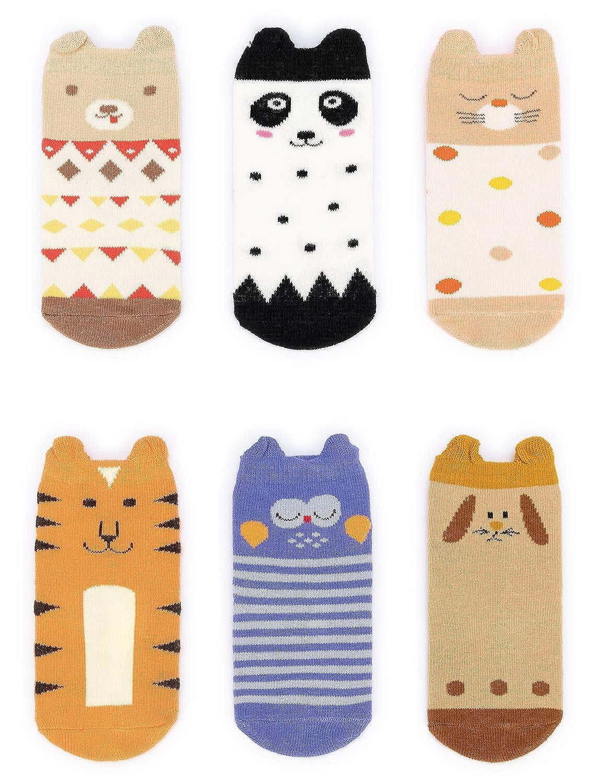 Adorel Baby Anti-Rutsch Socken Stoppersocken 6er-Pack