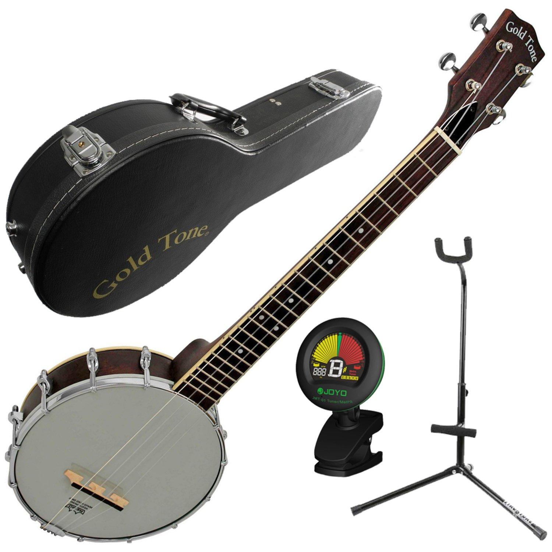 gold tone bub baritone banjo uke banjolele w case