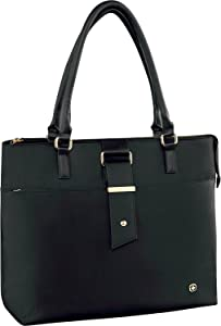 """Wenger 601375 ANA 16"""" Womens Laptop Tote with Tablet Pocket In Black {16 Litres}"""