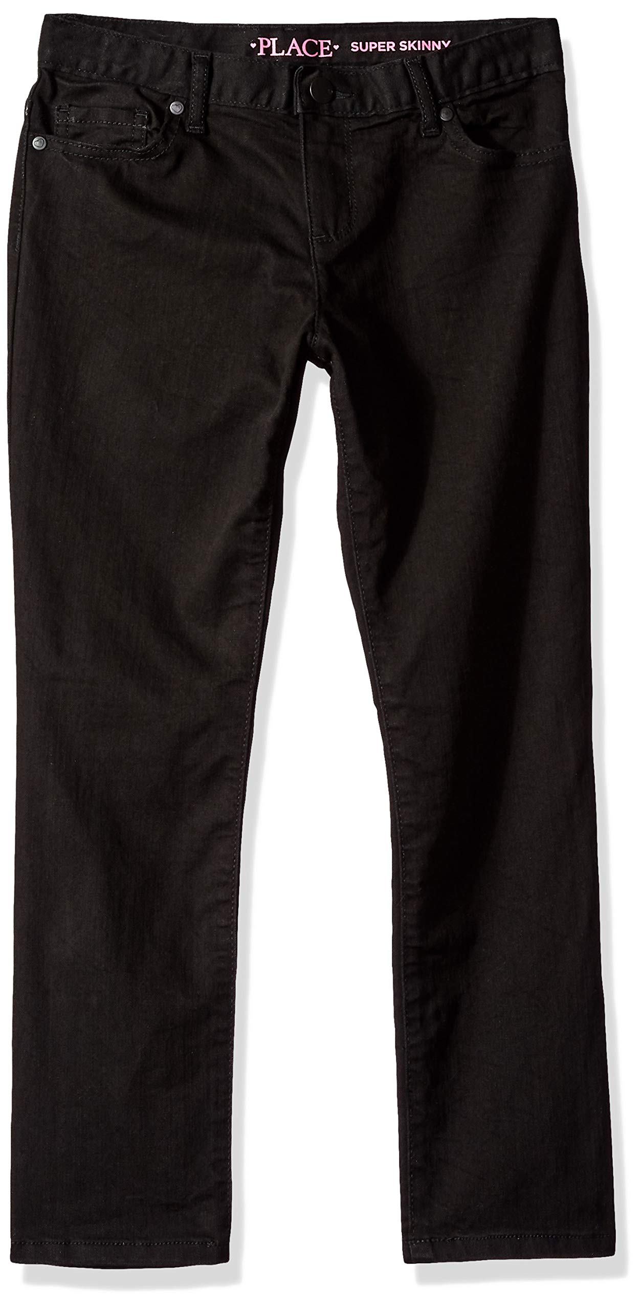 The Children's Place Big Girls' Super Skinny Jeans, Black WASH, 10 Plus by The Children's Place