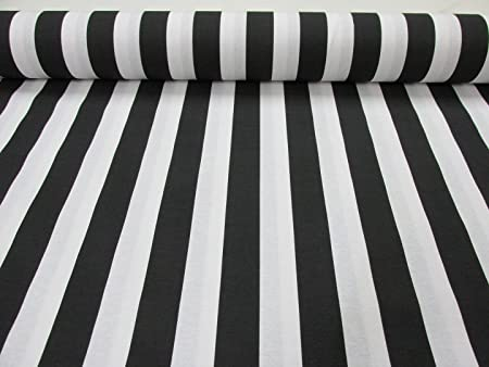 Black White Striped Fabric Stripes Curtain Upholstery Material