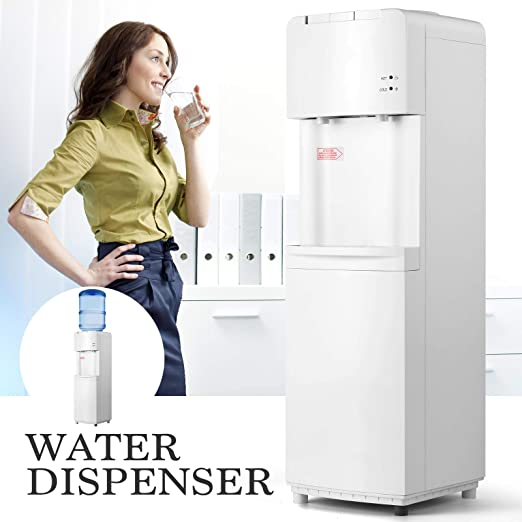 Water Cooler Dispenser 5 Gallon Top Loading Freestanding Hot And Cold Water Machine Compression Refrigeration For Home Office Kitchen Fixtures Water Dispensers Coolers