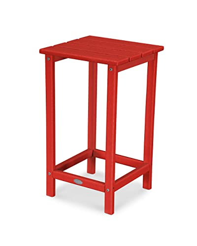 POLYWOOD ECT26SR Long Island 26 Counter Side Table, Sunset Red