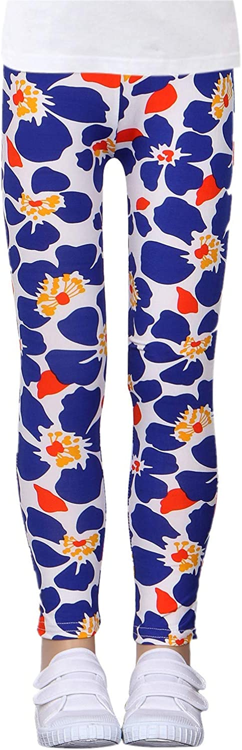 Age 4-13 Years LUOUSE Kids Stretch Leggings Tights Girls Pants Plain Full Length Childrens Trousers