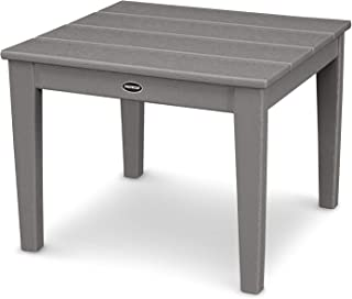 product image for POLYWOOD Newport Side Table, Slate Grey