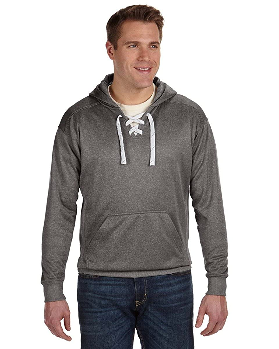 Adult Sport Lace Poly Hood CHARCOAL HEATHER XS