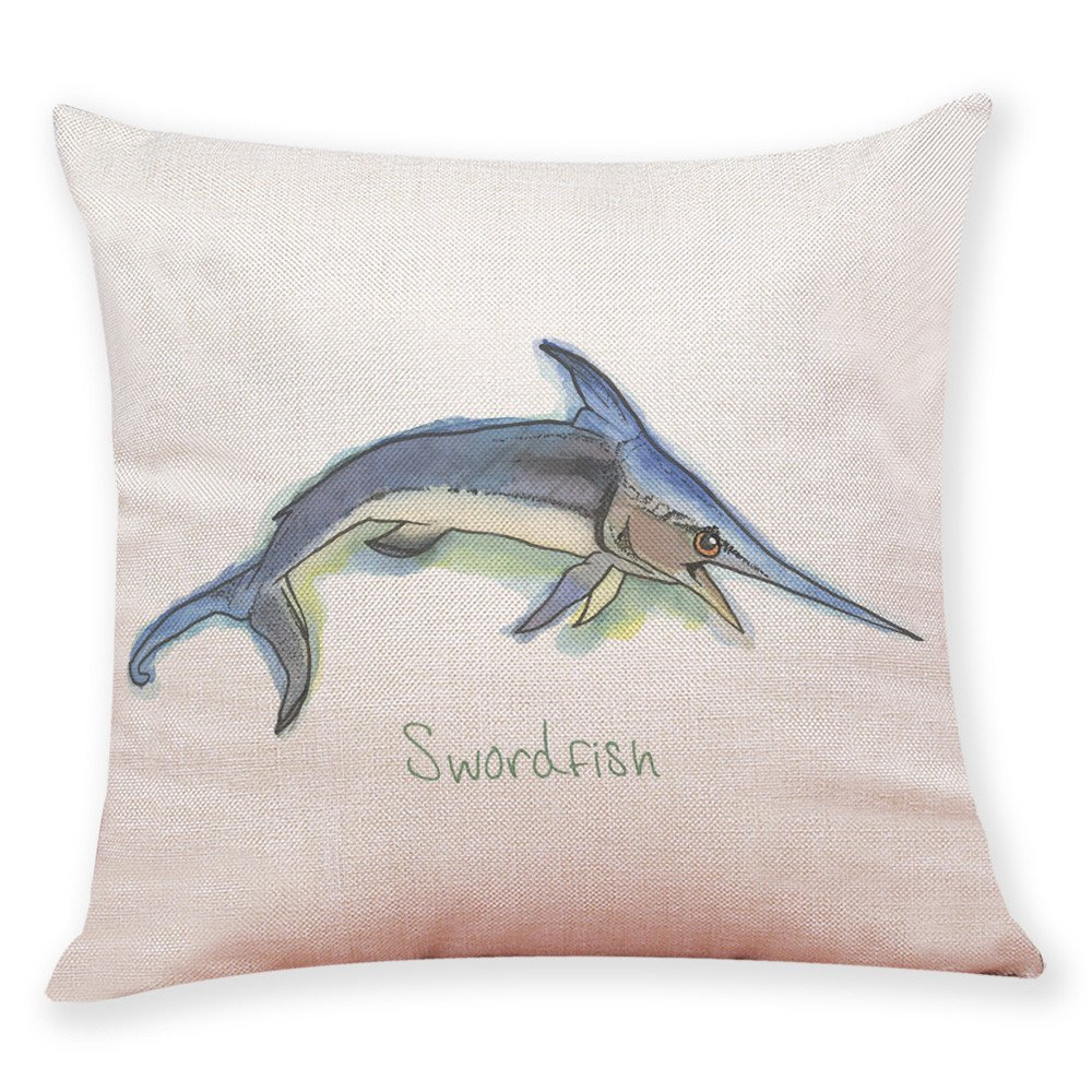 Weiliru Cotton Linen Throw Pillow Covers Decorative Pillow Covers Square Cute Animals Pattern