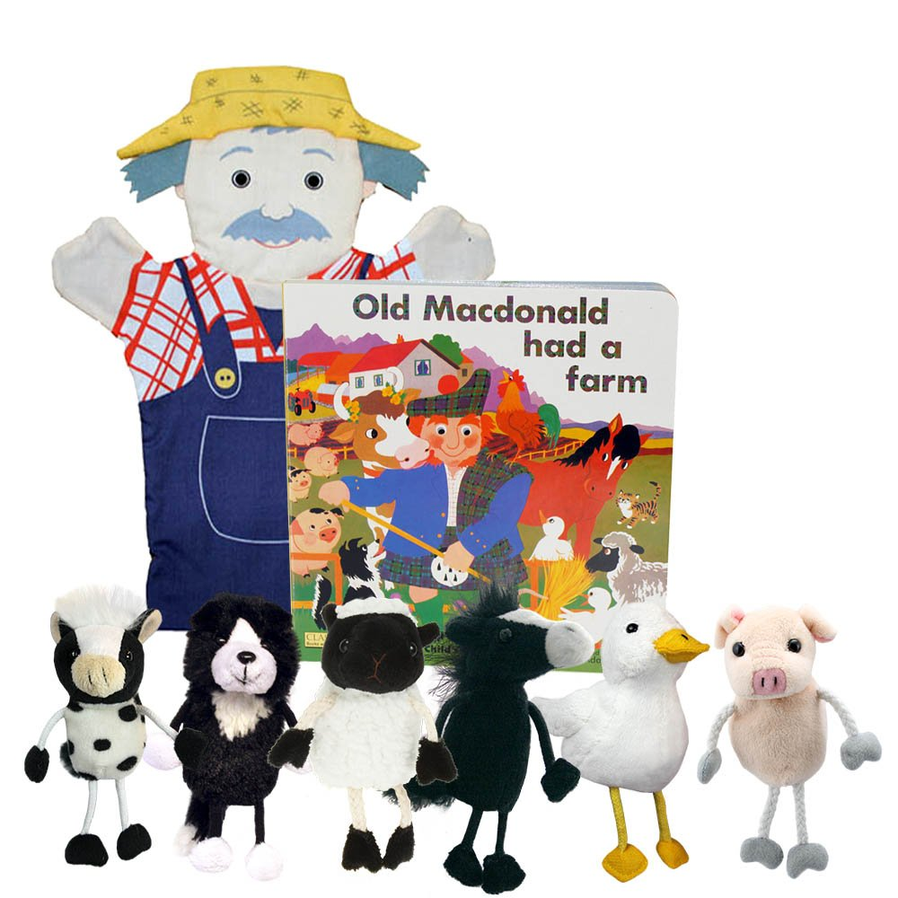Old Macdonald Book & Puppet Set The Puppet Company