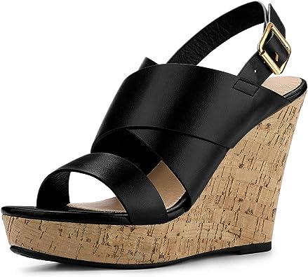 Wood Wedges Platform Wedge Sandals