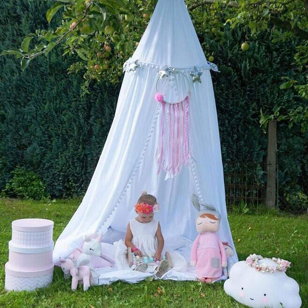 Pink with Gold Stars G4RCE/® Round Ball Princess Bed Canopy Bedcover Mosquito Net Curtain Bedding Dome Tent for Baby Kids Indoor Outdoor Playing Reading