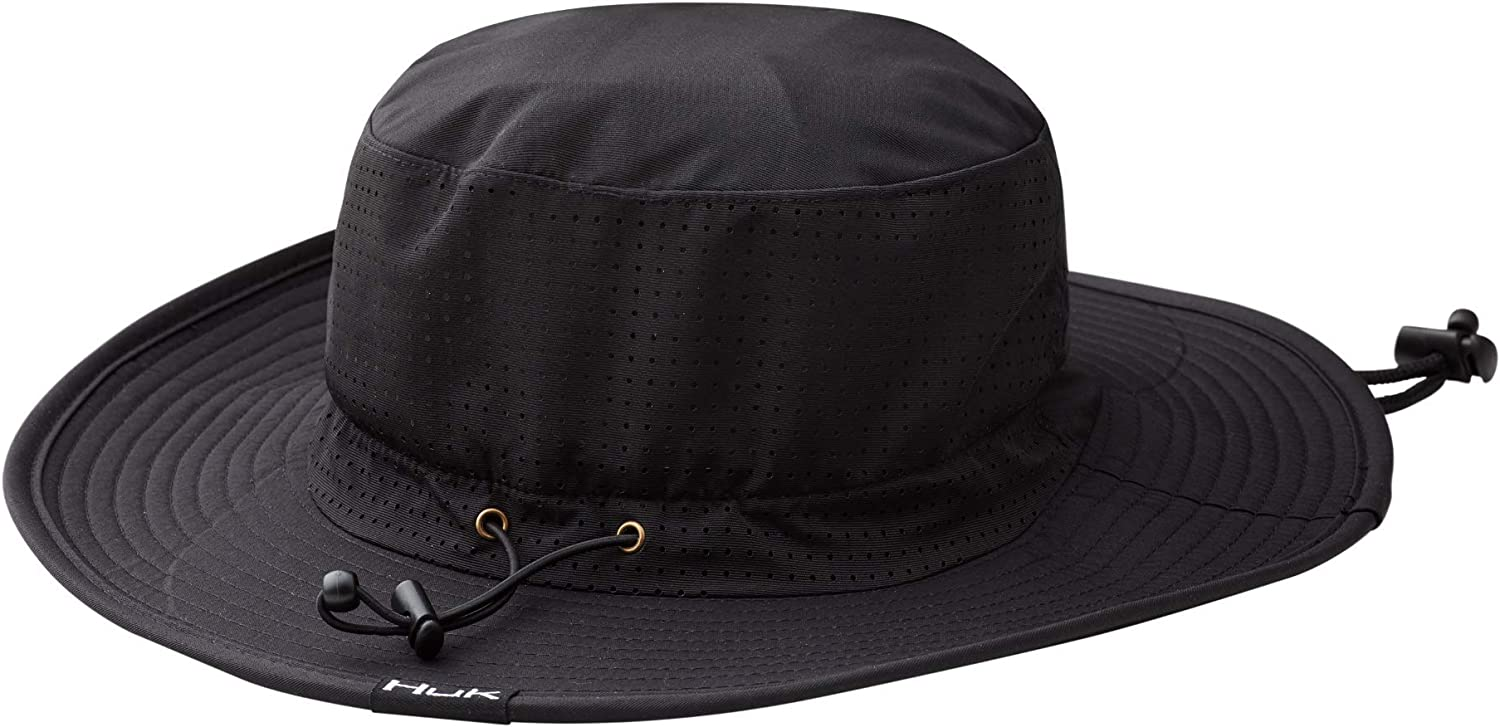 Wide Brim Fishing Hat with UPF 30 Sun Protection HUK Mens Boonie Hat