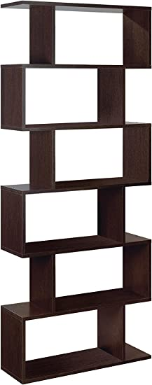 Habitdesign - Estanteria Athena alta, libreria abierta salon, 80 x 25 x 192 cm de altura (Wengué)