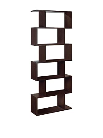 Ziggy Dark Brown Wenge Room Divider Bookcase