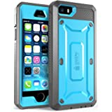 iPhone 5SE Case, SUPCASE Full-body Rugged Holster Case with Built-in Screen Protector for Apple iPhone 5SE (2016 Release), Unicorn Beetle PRO Series - Retail Package 蓝色/黑色