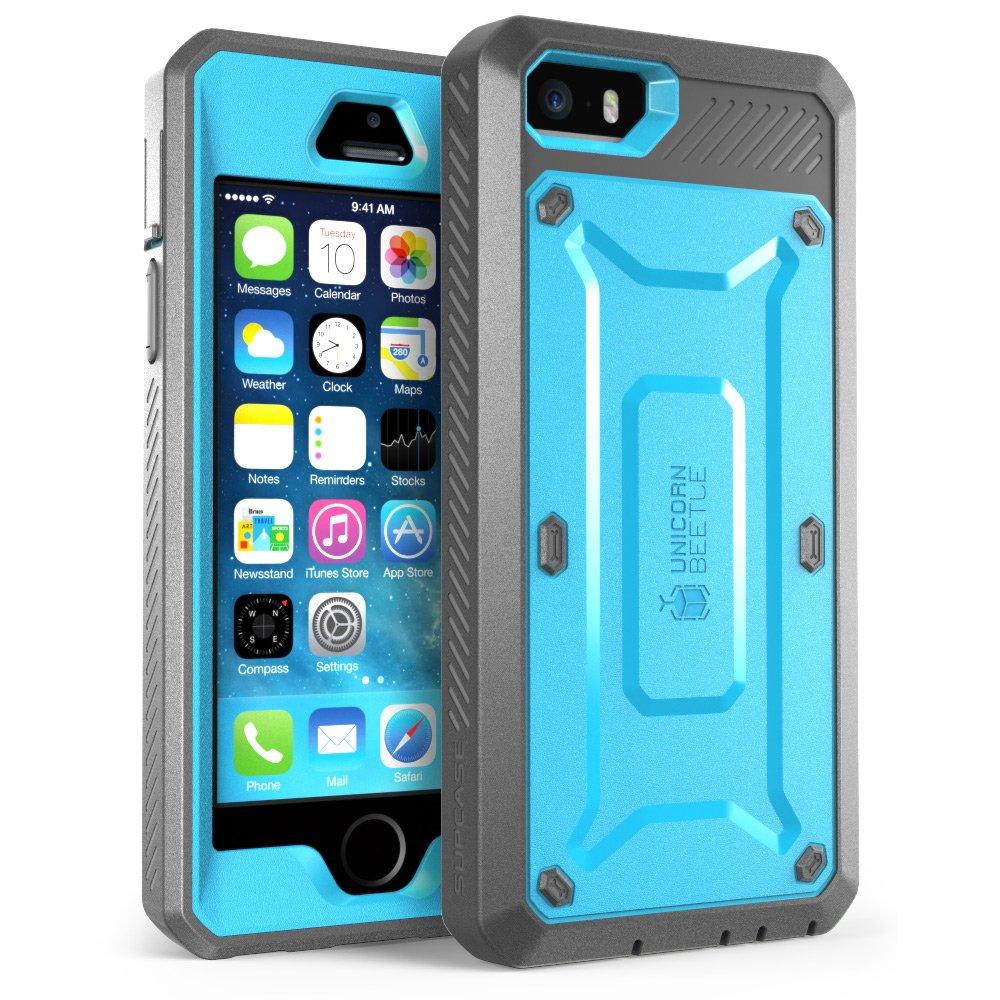 best loved 956e0 d1914 Details about iPhone SE / 5S / 5 Unicorn Beetle PRO SUPCASE Rugged Belt  Clip Holster Blue Case