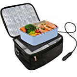 Car Food Warmer Portable 12V Personal Oven for Car Heat Lunch Box with Adjustable/Detachable shoulder strap, Using for…