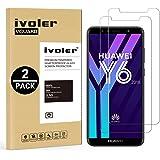 iVoler [2 Pack Pellicola Vetro Temperato Huawei Y6 2018 / Huawei Honor 7A [Garanzia a Vita], Pellicola Protettiva, Protezione per Schermo