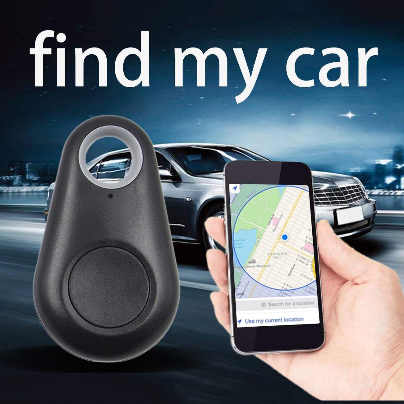 Black 4.0 Smart Finder Bidirectional Anti Lost GPS Alarm Device Intelligent Pet Child Tracing Locator Wallet Key Tracker