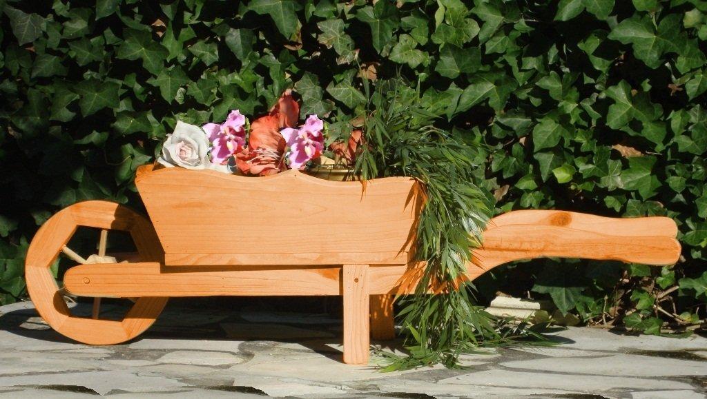 Grosser Schubkarren, Holzschubkarre, Garten - Schubkarre Deko 125 cm ...