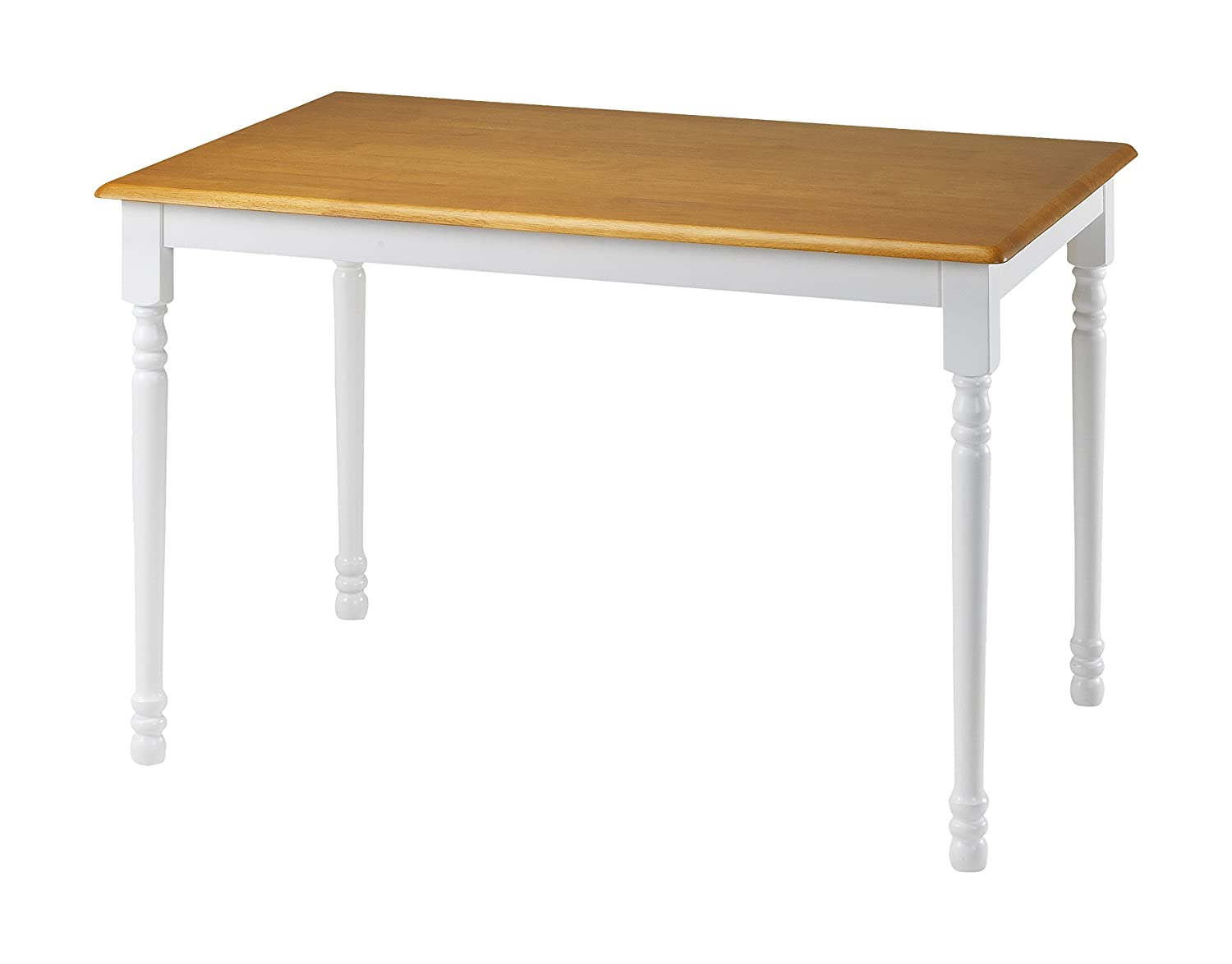 Indoor 4 seat dining table sturdy modern kitchen small space rectangle white oak Small white dining table