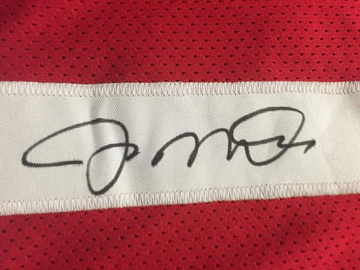 Autographed/Signed Joe Montana San Francisco Red Football Jersey JSA COA