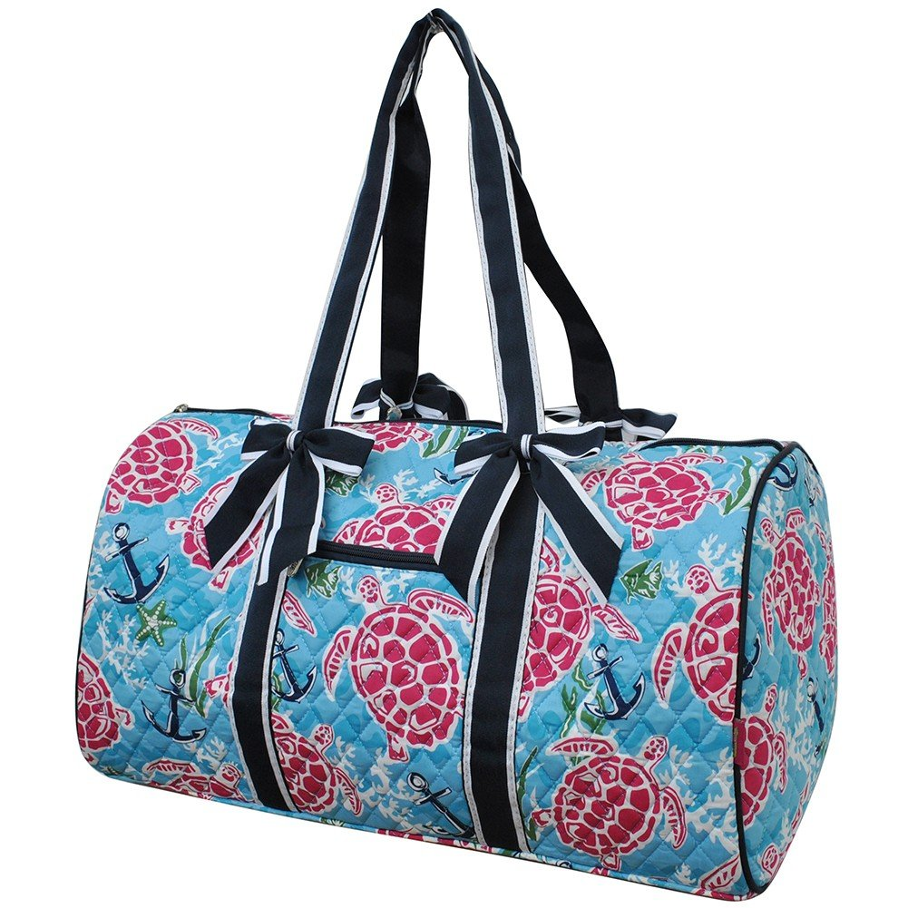 Turtle and Me ngil Large Quilted Duffle Bag   B076MMLG76