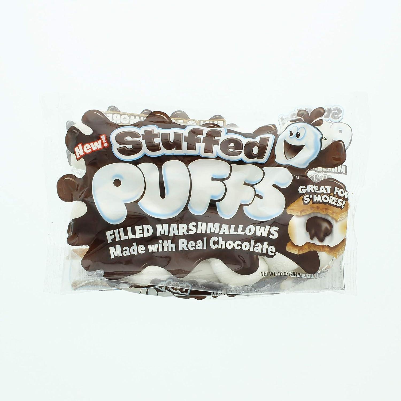 Puffs rellenos de chocolate con malvaviscos y suizo Miss ...