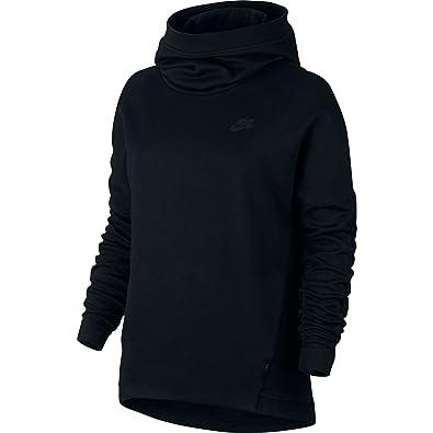 Amazon.com  Nike Sportswear NSW Tech Fleece Pullover Hoodie Black ... 7f5cb485cb99