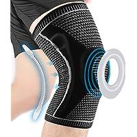 LOKEEVAN Kniesteun kniesteun voor dames en heren, patella gelpads, anti-slip ring, zijstabilisatoren, voor sport…