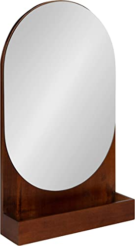 Kate and Laurel Astora Mid-Century Wood Framed Capsule Mirror