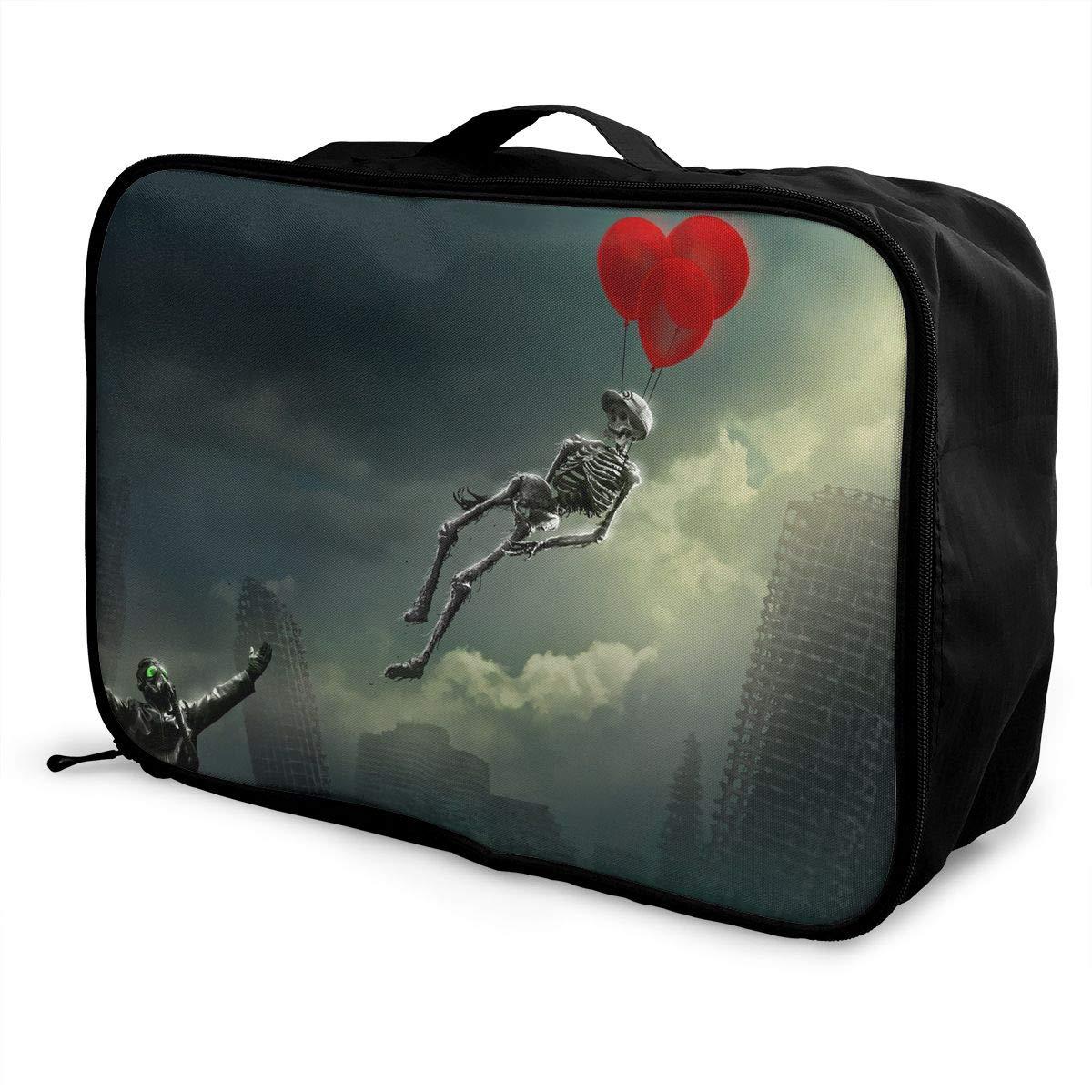 Travel Luggage Duffle Bag Lightweight Portable Handbag Hot Air Balloons Large Capacity Waterproof Foldable Storage Tote