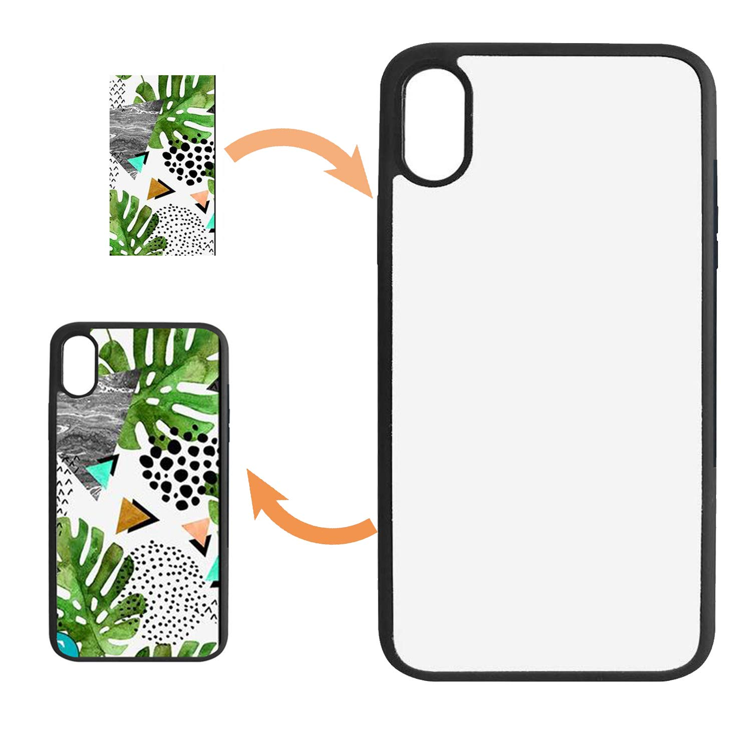 JUSTRY 10PCS Sublimation Blanks Phone Case Cases Anti-Scratch Covers Compatible with Apple iPhone XR 6.1 Inch. Blank Printable Phone Case for DIY Soft Rubber Cool Polish DIY Phone Case Glitter Finish
