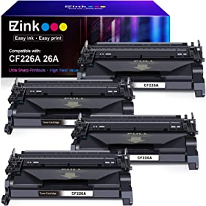 E-Z Ink (TM) Compatible Toner Cartridge Replacement for HP 26A CF226A 26X CF226X (Black, 4 Pack)