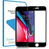 LEMEGO iPhone 7/iPhone 8 Tempered Glass Screen Protector Film 3D Full Screen Coverage Edge To Edge Protection 9H Anti-scratch Screen Cover Saver Guard (Black)