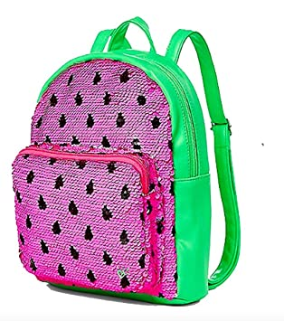 Amazon Com Justice Girls Watermelon Flip Sequin Mini Backpack