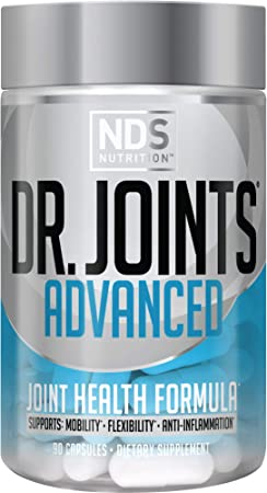 NDS Nutrition Dr. Joints - Advanced Joint Health Formula with FruiteX-B - Dietary Supplement for Improved Mobility and Flexibility - Decrease Joint Inflammation - 90 Capsules