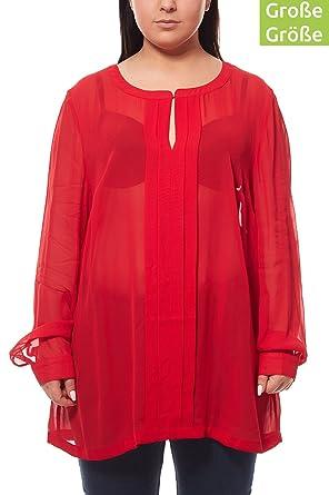 uk availability 2e634 a644e G.M.K. by heine Chiffonbluse Große Größen Bluse Shirt Rot ...