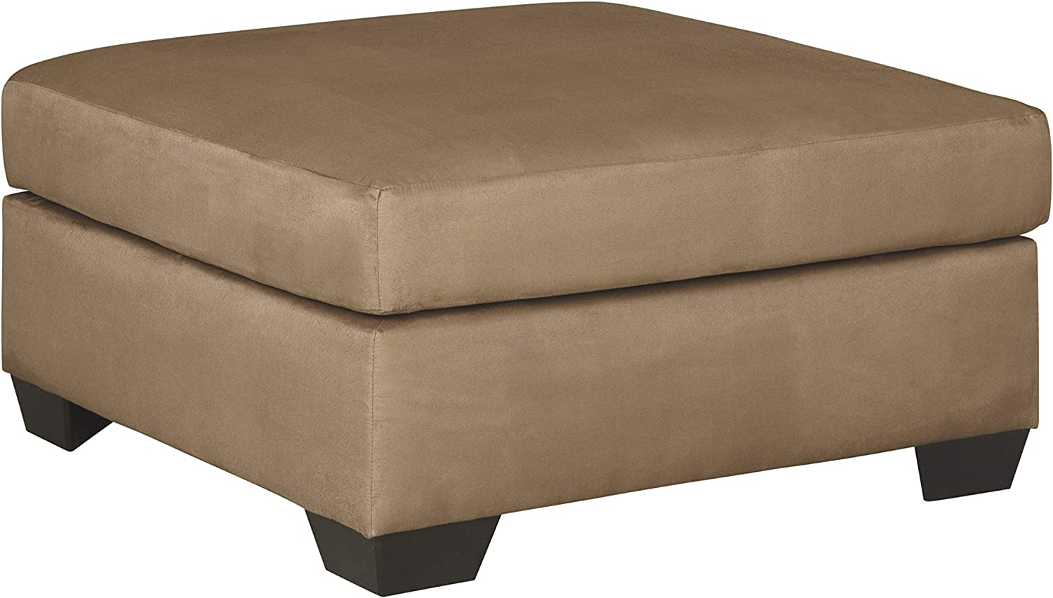 Signature Design by Ashley - Darcy Contemporary Oversized Accent Ottoman, Light Brown
